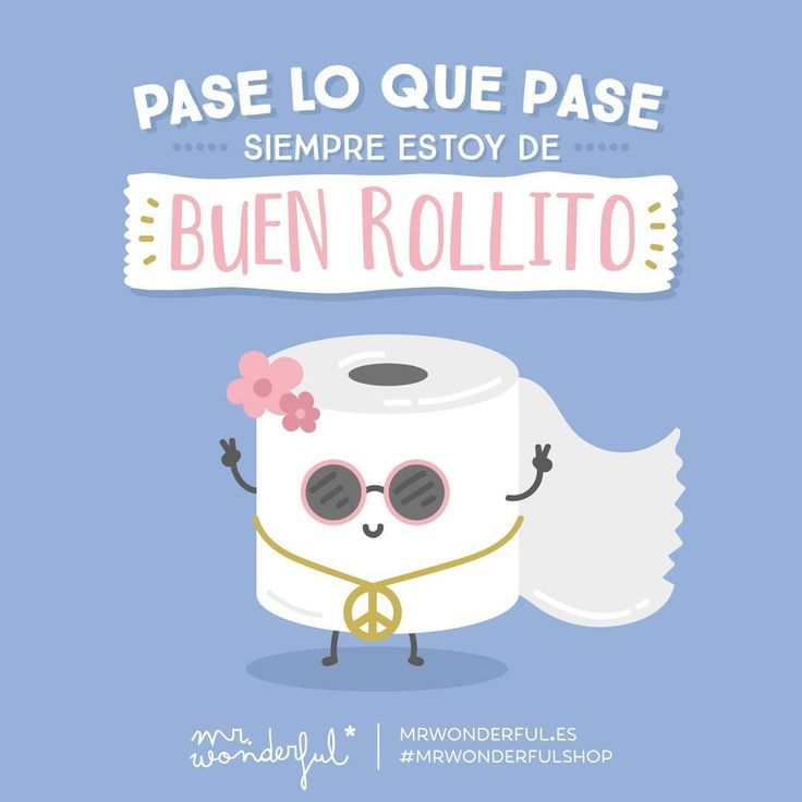 ¿Qué hay mejor que llevar puesto el buen rollete todo el día? ✿ Spanish Learning/ Teaching Spanish / Spanish Language / Spanish vocabulary / Spoken Spanish / More fun Spanish Resources at http://espanolautomatico.com ✿ Share it with people who are serious about learning Spanish!