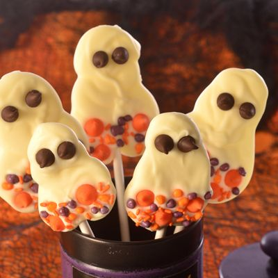 perfect for a unique halloween treat boo ti ful ghosts are spooky and tasty made with nestl toll house premier white morsels - Unique Halloween Desserts