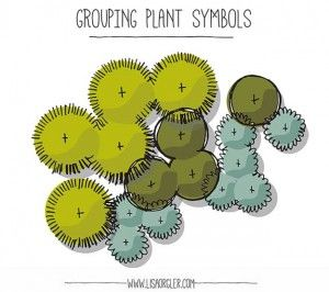 How to Draw and Group Plant Symbols