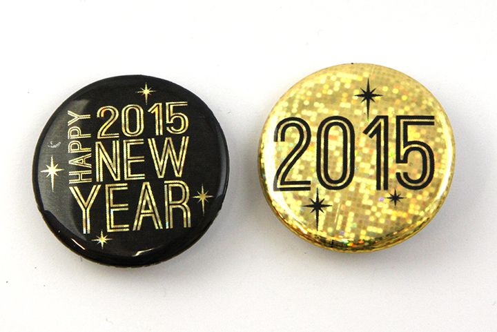 New Year's Buttons, 2015 Button Ideas