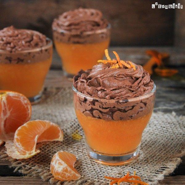 Gelatina de mandarina con mousse de chocolate | L'Exquisit