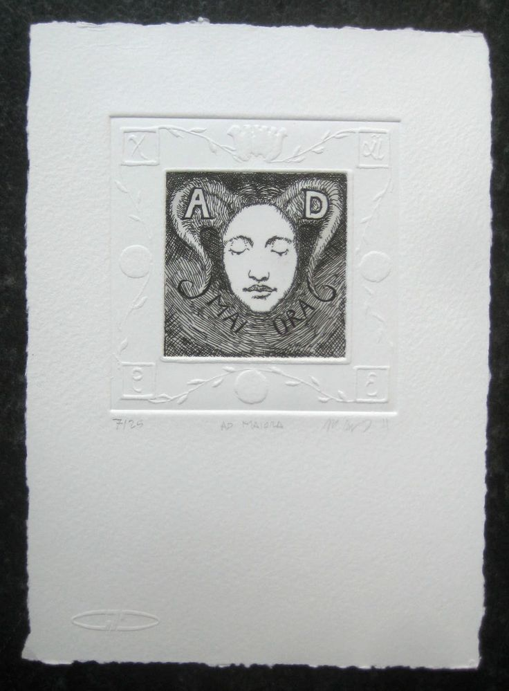 Ad Maiora, etching and dry impression with a double plate. 6cm x 6cm by Matthew James Collins
