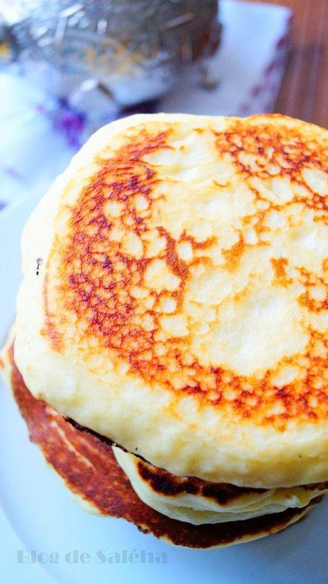 Harcha à la semoule façon pancakes. #pancakes #maroc #harcha #recettefacile
