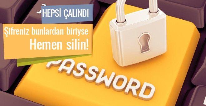 2016 yılında En çok çalınan şifreler açıklandı. İnternet ortamında ve kişisel hayatımızda veri güvenliği için kullandığımız şifreleri kullanım yoğunluğu ortaya çıktı.