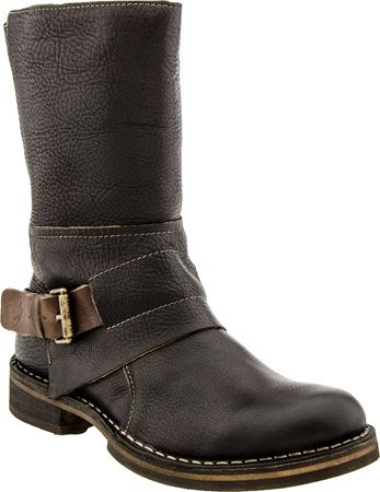 Fly London Nani Women's Motorcycle Boot (Dark Brown)