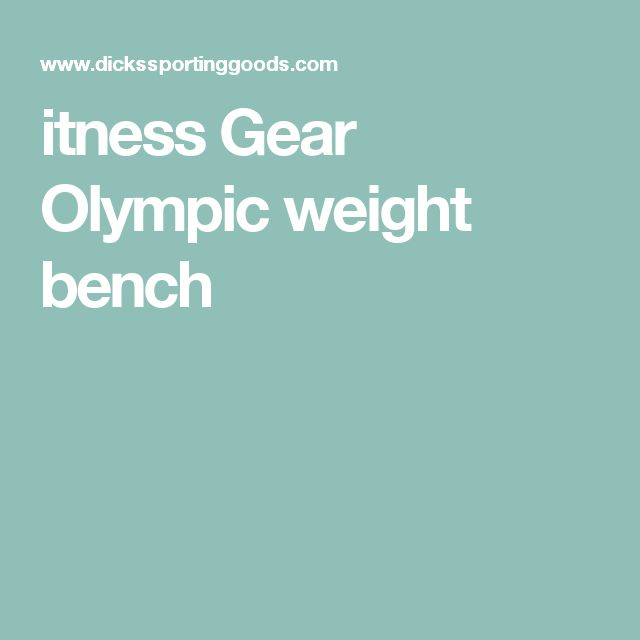 itness Gear Olympic weight bench
