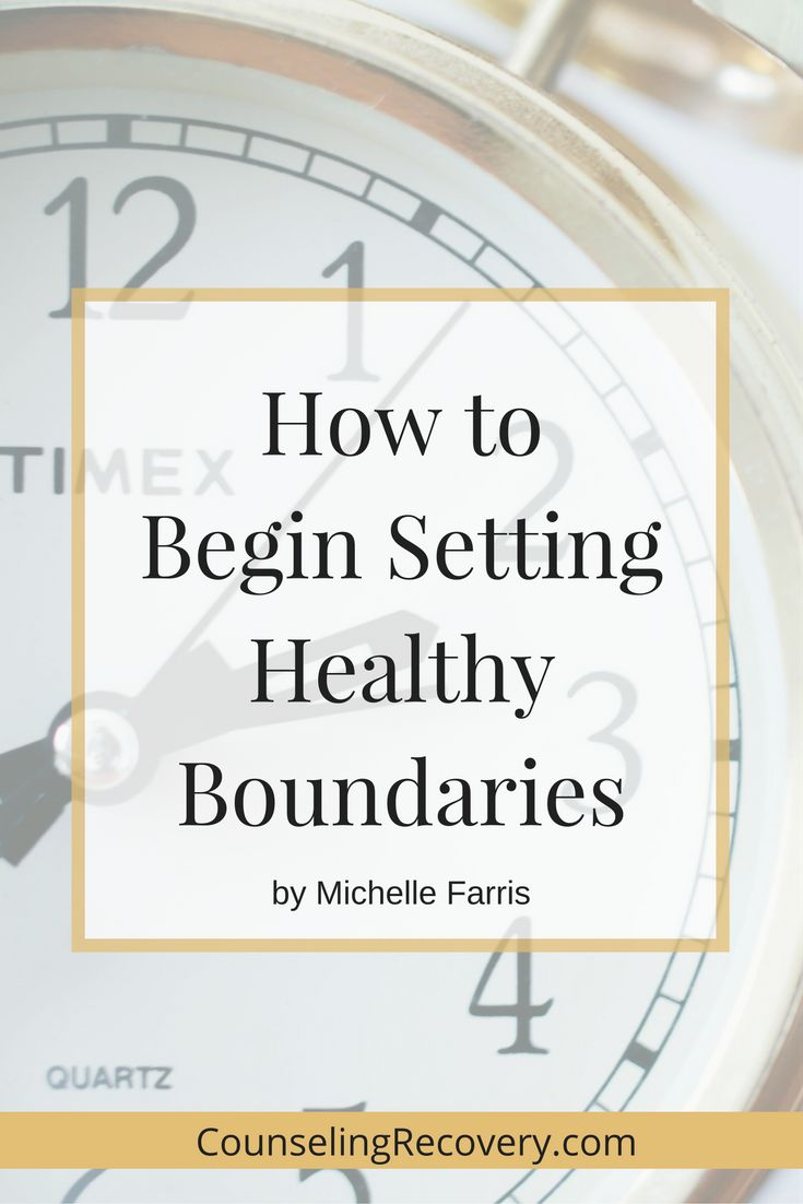 setting healthy boundaries in a relationship