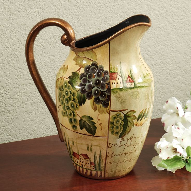 85 best images about grape decor on pinterest vineyard for Wine decor for kitchen cheap