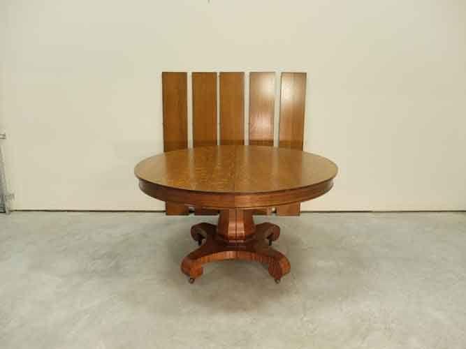 Victorian Oak Hastings 54 Round Split Pedestal Dining Table Pedestal Dining Table Antique Dining Tables Dining Table