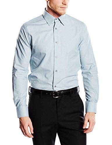 Mexx Men's, MX3000722 Slim Fit Long Sleeve Shirt, Blue (B…