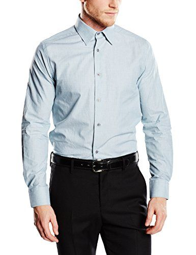 Mexx Men's, MX3000722 Slim Fit Long Sleeve Shirt, Blue (B…