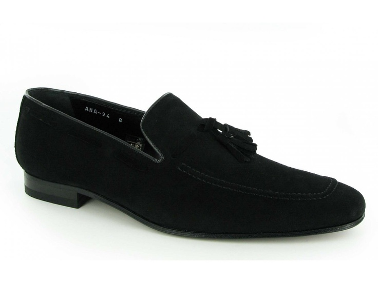 Shuperb Suave Mens Suede Leather Chisel Toe Tassel Loafers