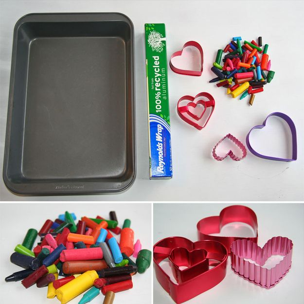 Make crayons in fun shapes for the kids.   47 Unexpected Things To Do With Cookie Cutters