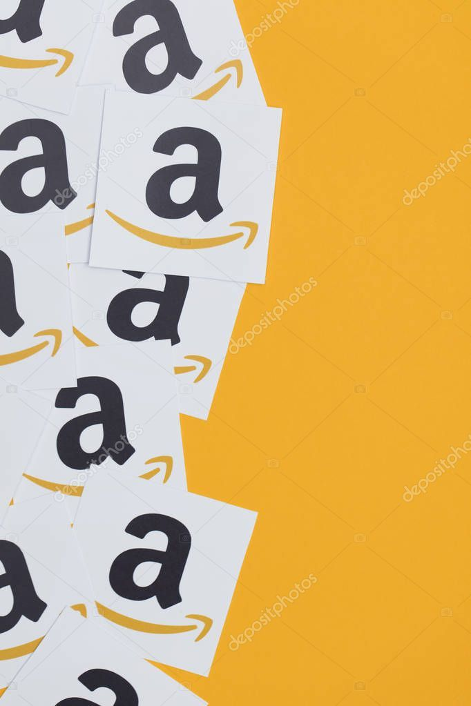 Amazon Logo Printed Onto Paper Amazon Is The Largest Online Ret