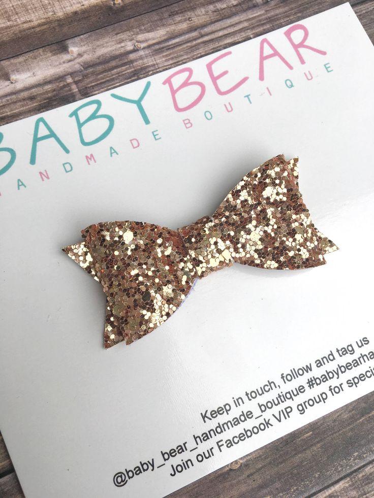 Gold Bow, Baby Bow, Newborn Headband, Girls Hair Clip, Girls Hair Accessory by BabyBearHandmadeB on Etsy https://www.etsy.com/ca/listing/554080350/gold-bow-baby-bow-newborn-headband-girls