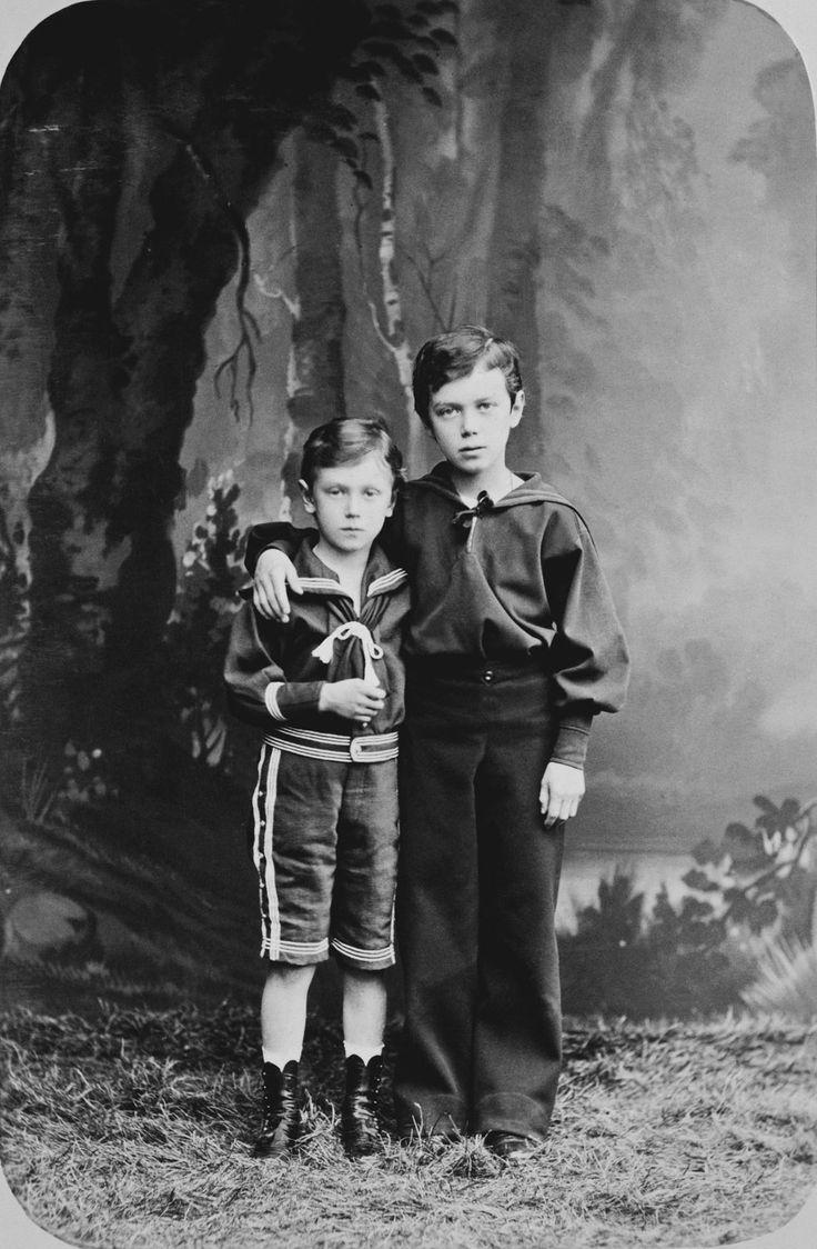 Nicholas II, Emperor of Russia, when Grand Duke Nicholas Alexandrovich, and Grand Duke George Alexandrovich | Royal Collection Trust