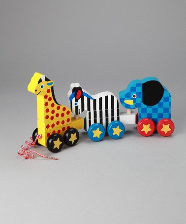 Take a look at this Pull Along Zoo Animals Toy by Melissa & Doug on #zulily today!