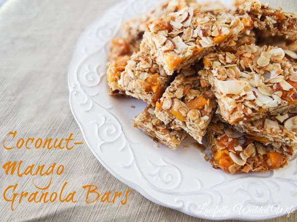 ... healthy food forward coconut mango granola bars coconut mango granola