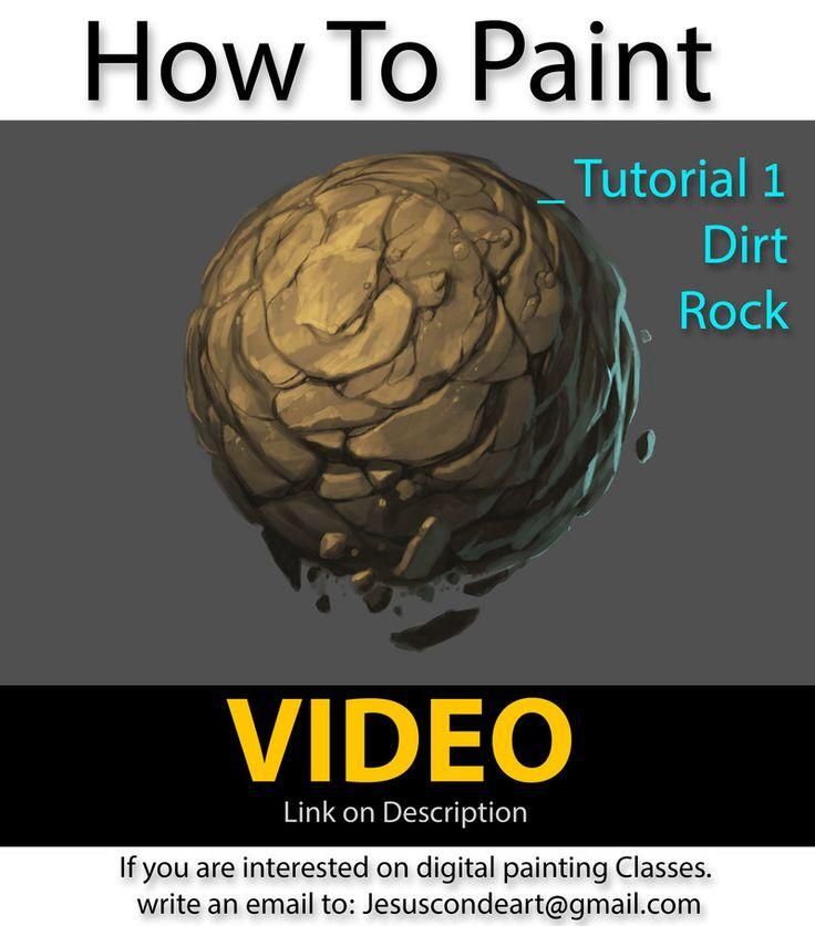 How To Paint Rock or Dirt by JesusAConde on deviantART  https://www.youtube.com/watch?v=8QGjj_dMHGQ