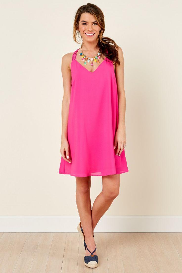 Cool By Design Pink Sundress at reddressboutique.com