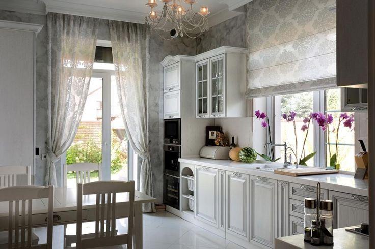 Еще один пример современной, но небольшой кухни в стиле прованс, созданной в частном доме