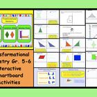 This is a Smart Notebook 11 file.  There are 15 pages in this file containing Transformational Geometry lessons and printables suitable for gr. 5-6...