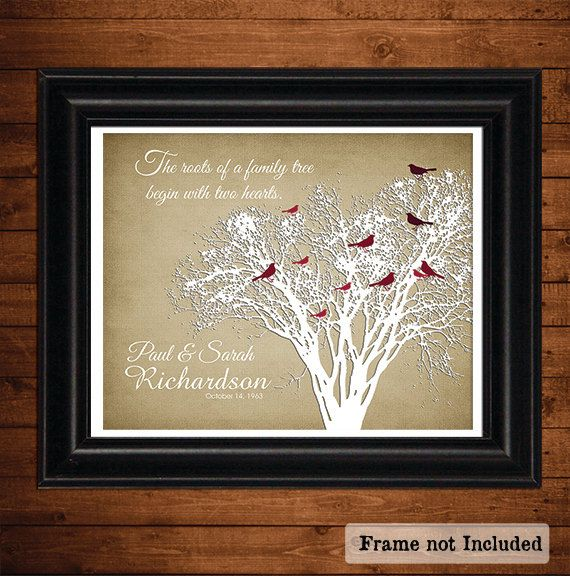 Gifts For Grandparents 50th Wedding Anniversary: Two Hearts, 50th Wedding Anniversary, Gift For