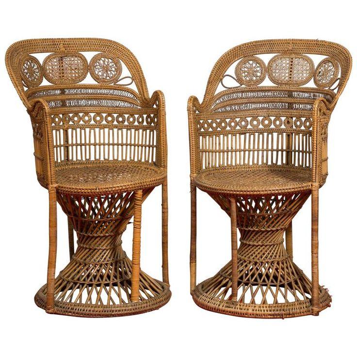 Manufacture of Perret & Vibert, Pair of Rattan Chairs, circa 1890 | 1stdibs.com