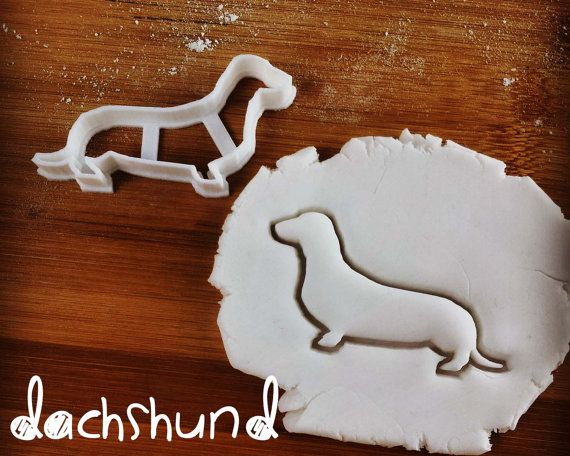 Dog cookie cutter   biscuit cutter   fondant cutter   clay cheese cutter - Dachshund, Corgi, Chihuahua, Greyhound   one of a kind ooak