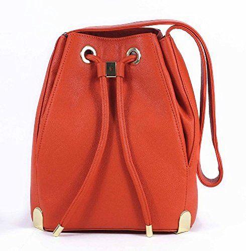 Vince Camuto Handbag, Janet Drawstring Bag Sunset Orange * Check out the image by visiting the link.