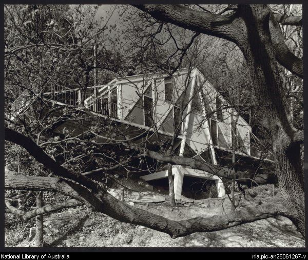 House of architect Peter McIntyre on the Yarra, Kew, Victoria, 1956 Photograph by Wolfgang Sievers