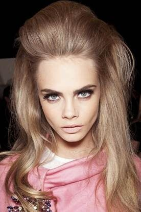 Fall/Winter 2012 Hair Trends: 60's inspired 'boufant' hair via www.flutterandpout.com
