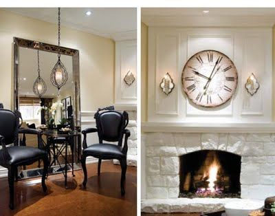 Decor Over Fireplace 33 best images about huge clocks to make on pinterest | cable