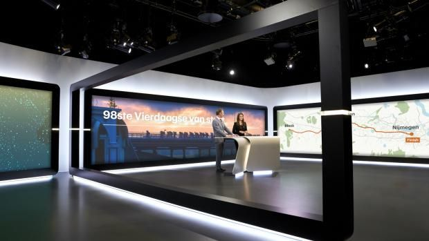 De nieuwe studio van RTL Nieuws