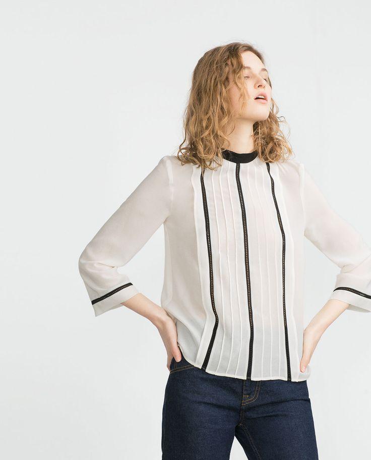 $30 CHEMISIER À INSERTS de Zara
