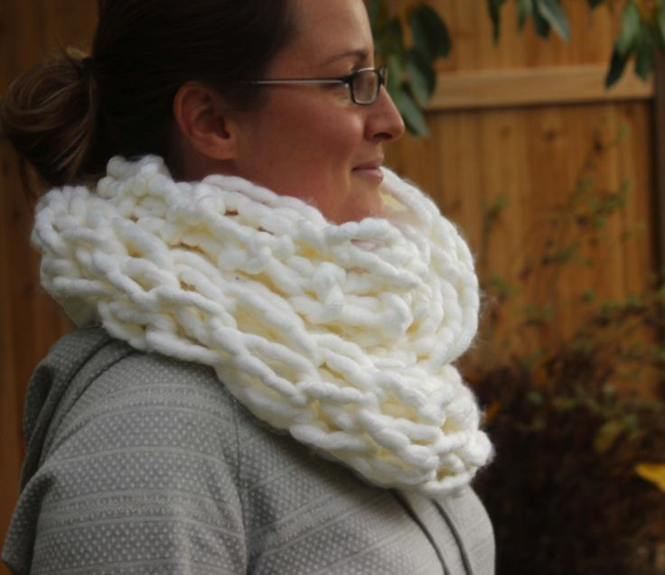 Chunky Knit Cowl - Oversized knit infinity scarf - scarves for women - scarves for men - oversized knits are trending items now! by KnitaBitofWhimsy on Etsy