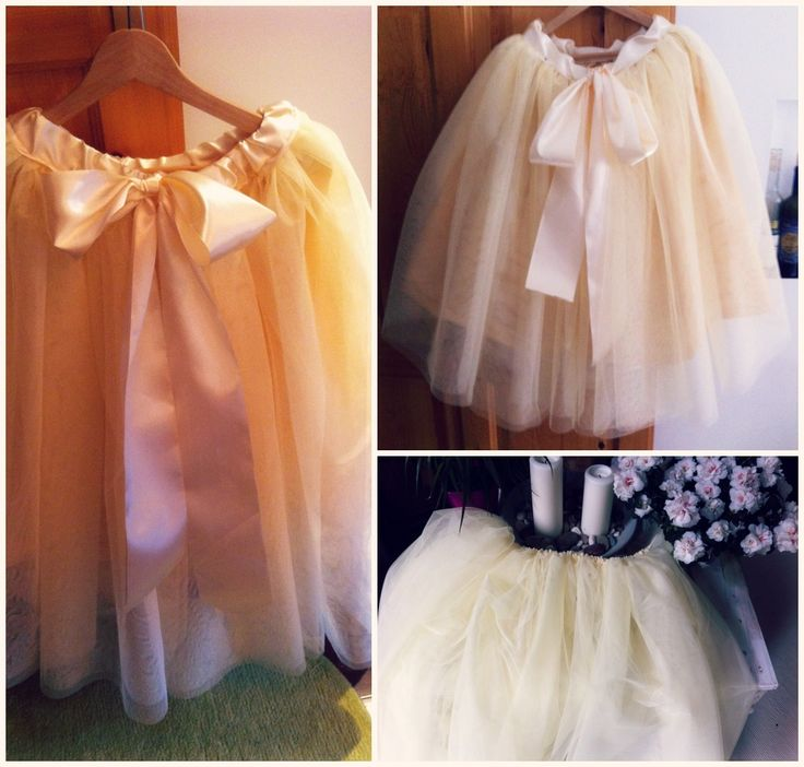 vanilla tulle tutu.. :) made by me..