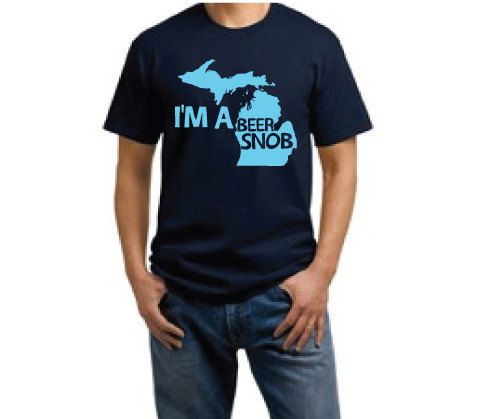 I'm a Michigan Beer Snob by tookoidesigns on Etsy, $18.00