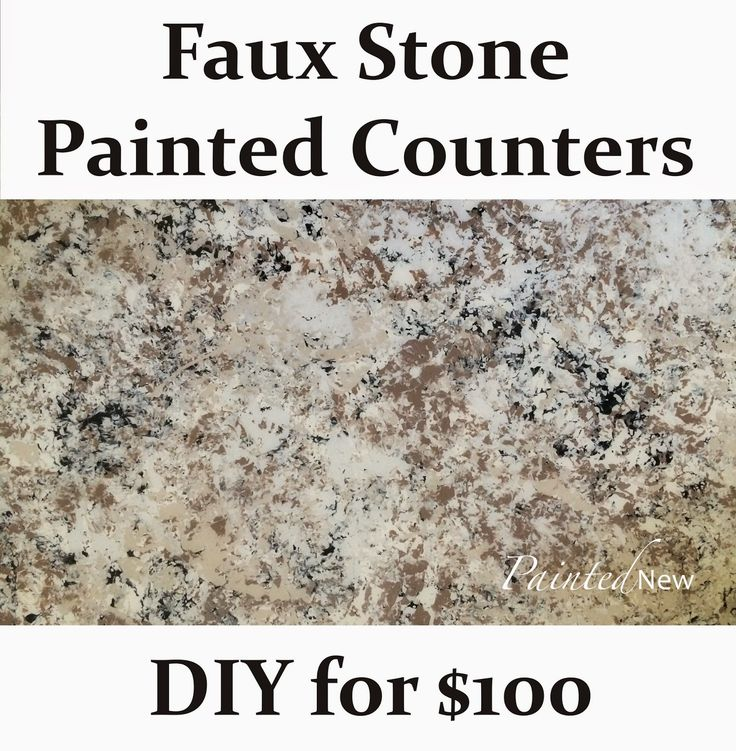 DIY faux stone painted counters with Envirotex Lite