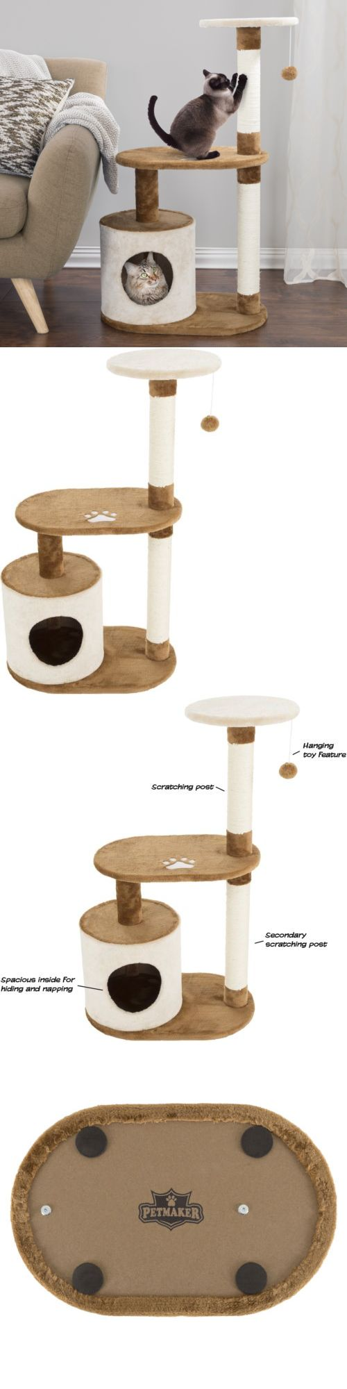 Animals Cats: Cat Tree Condo House Furniture Post Tower Play Scratching Kitty Scratch Kitten -> BUY IT NOW ONLY: $45.99 on eBay!
