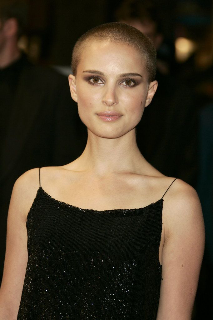 Portman shaved head