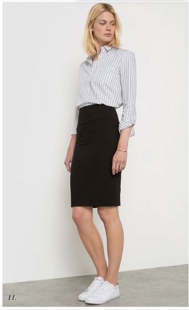 153 best Black / Grey midi pencil skirt outfits images on Pinterest