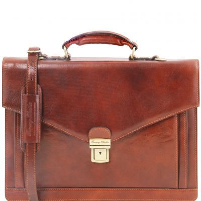 VOLTERRA TL141544 Leather TL SMART briefcase 2 compartments