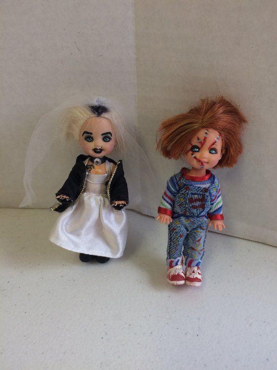 chucky and tiffany dolls chucky doll tiffany doll custom horror