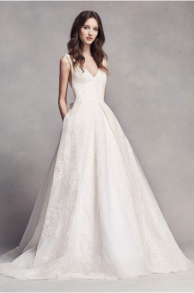 Truly Zac Posen 3 4 Sleeve Short Wedding Dress Davids Bridal