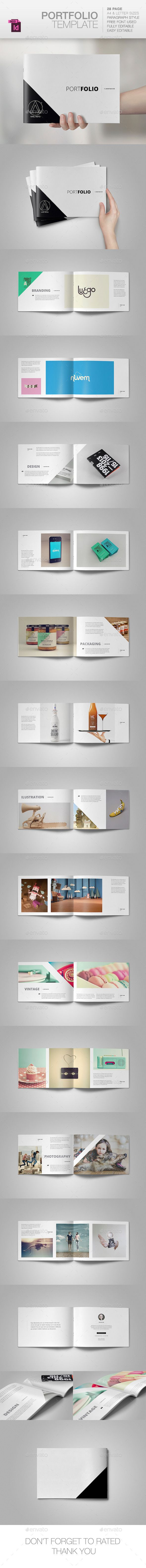 Portfolio Brochure Template #design Download: http://graphicriver.net/item/portfolio-template/10290456?ref=ksioks