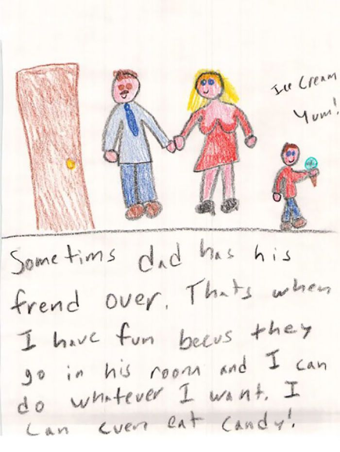 Kids Not Only Say Darnedest Things They Draw It Too Funny Kid Drawings Funny Kids Homework Funny Drawings