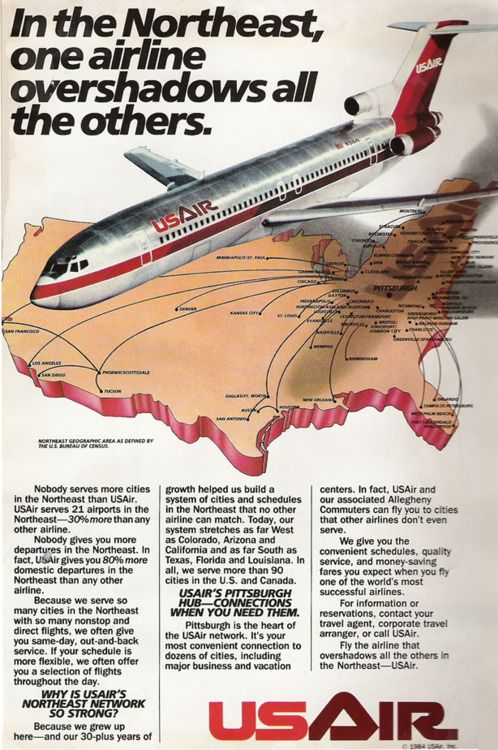 Us Air Vintage Ad