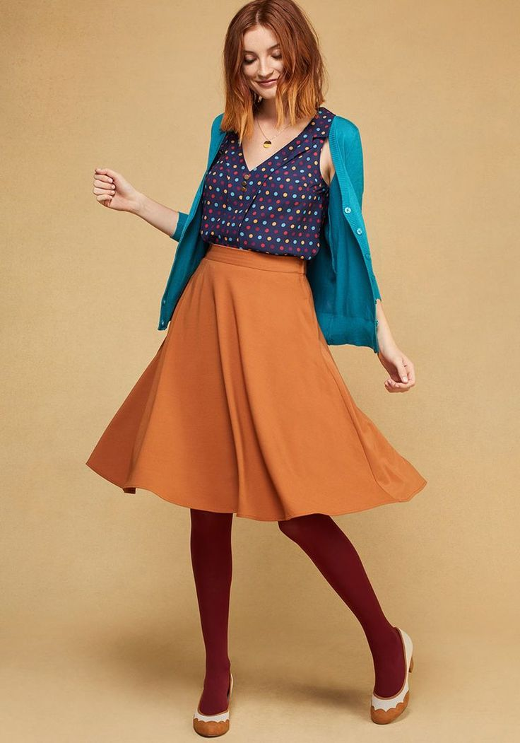 Just This Sway Midi Skirt in Turmeric in XS - A-line by ModCloth - Plus Sizes Available