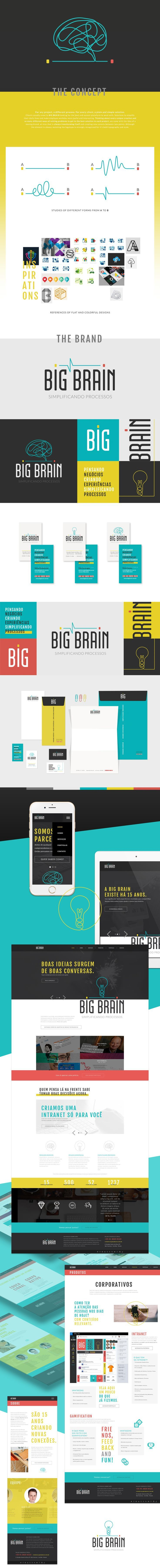 Visual identity and digital solutions developed for Big Brain a business thinking and intelligent technology